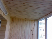 Балкон под ключ Мариуполь. Внутренняя обшивка деревянной вагонкой