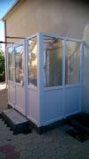 Вход в частный дом из пластиковых окон Steko